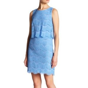 Anne Klein lace popover sleeveless sheath dress